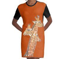 Kaz Art Creations Giraffe - Your Looking The Wrong Way Graphic T-Shirt Dress