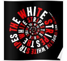 White Stripes Circle Poster
