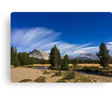 Weather Approaching Tuolumne Meadows Canvas Print