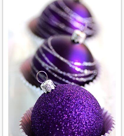 Christmas Purple Bauble Cupcakes Sticker