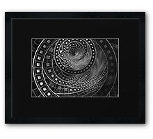 Silver Screen Fractal Dreams in Glorious Black and White Framed Print