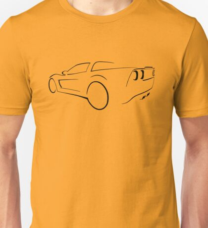 Chevrolet Corvette graphic (Black) Unisex T-Shirt