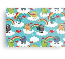 Monsters rainbow Metal Print
