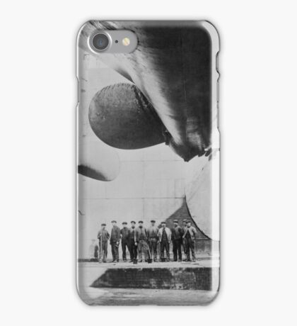 Titanic In Dry Dock - May 31, 1911 iPhone Case/Skin