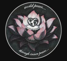 World Peace, Through Inner Peace Kids Tee