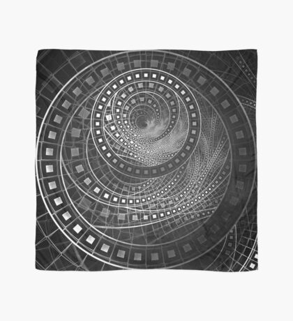 Silver Screen Fractal Dreams in Glorious Black and White Scarf