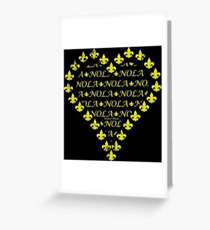 NOLA Fleur de Lis Heart Greeting Card