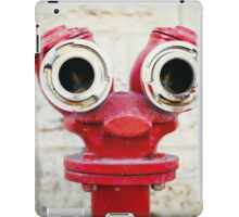 Red old fire hydrant on a street iPad Case/Skin