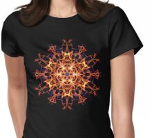 Centering Meditation Focus -  Energetic Geometry Symbolic Healing Mandala. Womens Fitted T-Shirt