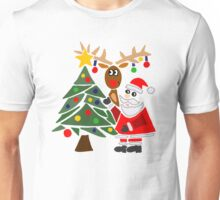 Cool Funny Mary and Chris Moose Christmas Cartoon Unisex T-Shirt