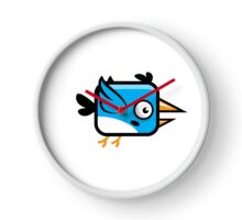 Little Squared Blue Bird Clock