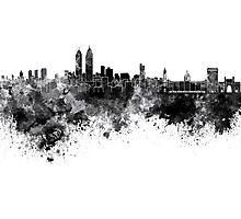 Mumbai skyline in black watercolor background Photographic Print