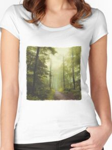 Long Forest Walk Women's Fitted Scoop T-Shirt