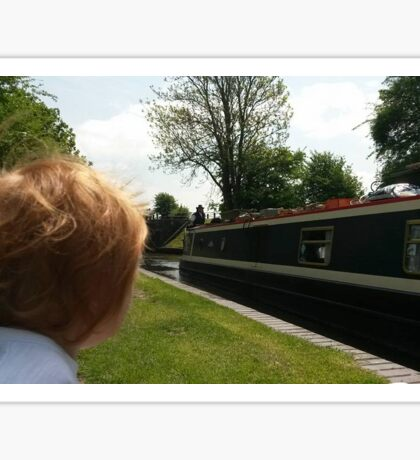 "Painted Lady Narrow Boat ""Image Through A Childs Eyes"" Sticker"