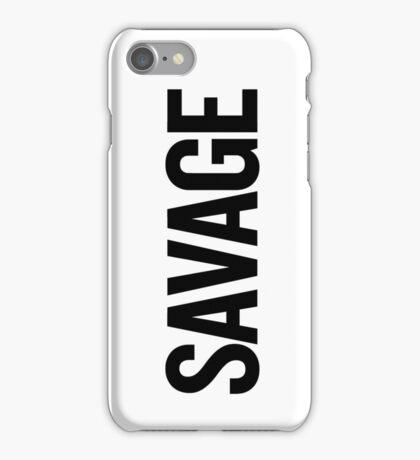 Savage (Black) iPhone Case/Skin