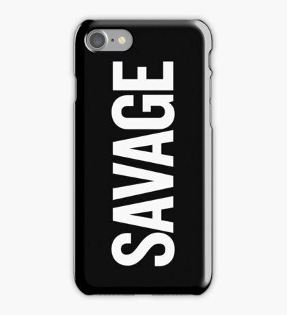 Savage (White) iPhone Case/Skin