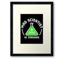 Mad Scientist in Training Framed Print