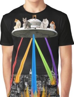 CAT INVADERS Graphic T-Shirt