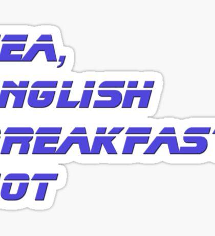 Tea, English Breakfast, Hot Mug Sticker Sticker