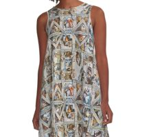 Michaelangelo - Sistine Chapel Ceiling A-Line Dress