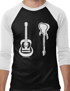 Acoustic vs Electric Men's Baseball ¾ T-Shirt