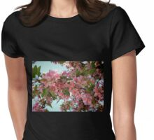 Pink Cherry Blossoms Womens Fitted T-Shirt