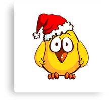 Funny Santa Chicken Canvas Print
