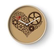 Dark Steampunk Heart Clock