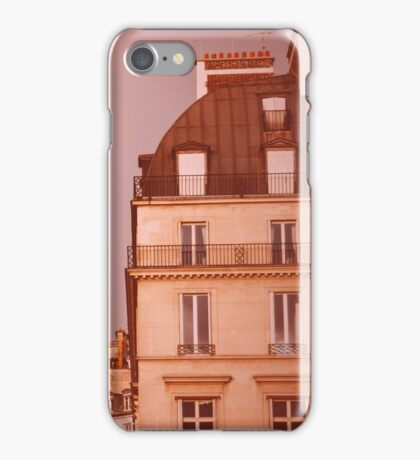 Paris Street View with Rainbow in the Sky After Rain iPhone Case/Skin