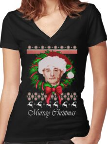 Classic Murray Christmas  Women's Fitted V-Neck T-Shirt