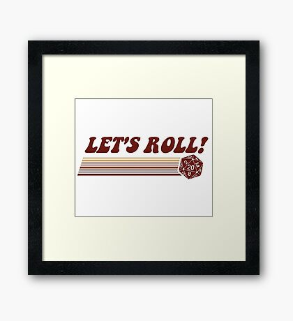 Let's Roll Roleplaying Game Dice Framed Print