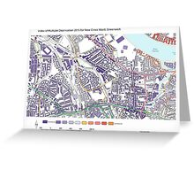 Multiple Deprivation New Cross ward, Greenwich Greeting Card