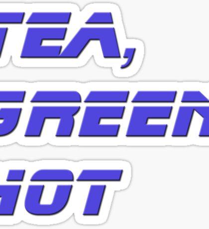 Tea, Green, Hot - Mug Cup Gift Sticker  Sticker
