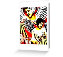 Vexed Angel Greeting Card