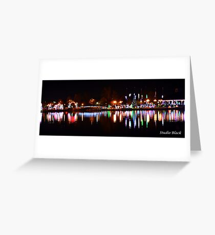 Christmas Lights in Lafreniere Park Greeting Card