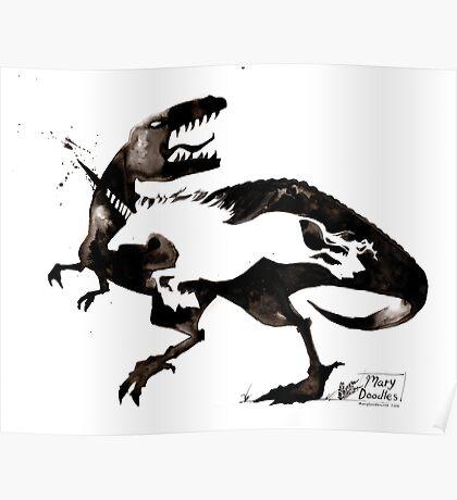 Dino VS Unicorn Poster
