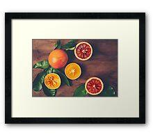Still Life with Ripe Juicy Citrus Fruits Framed Print