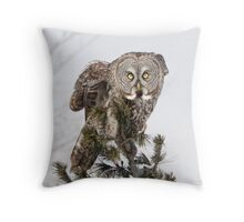 The perching prince Throw Pillow