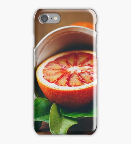 Ripe Juicy Half of an Orange Citrus Fruit iPhone Case/Skin