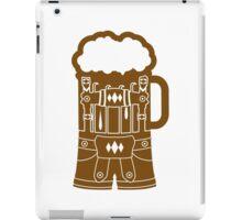 cool lederhose tracht anzug bier krug saufen trinken party feiern spaßtrinken alkohol symbol cool shirt oktoberfest  iPad Case/Skin