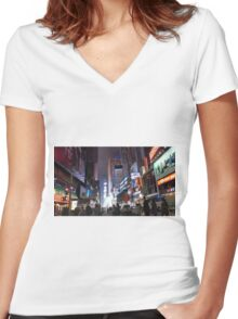 New York City - Photography 4 Women's Fitted V-Neck T-Shirt