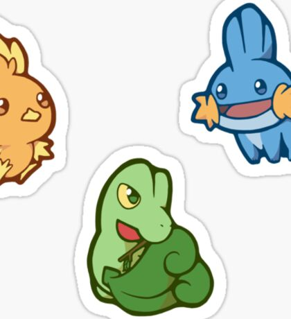 Pokémon / Gen 3 Starters Sticker