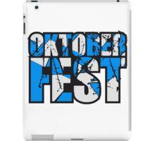 cool kratzer risse spaß oktoberfest text flagge blau weiss muster party feiern design  iPad Case/Skin