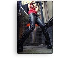 leather boots Canvas Print