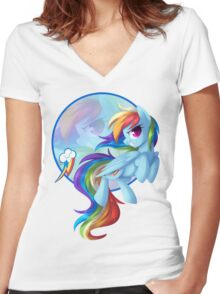 Dash! Women's Fitted V-Neck T-Shirt