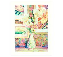 Lillies and Rainbows Art Print