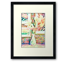 Lillies and Rainbows Framed Print