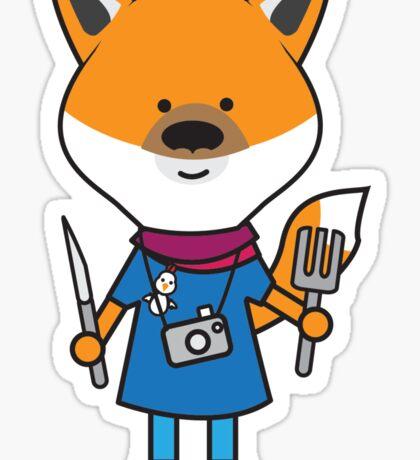 Fiona the Foodie Fox Sticker