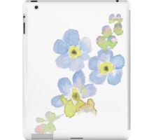 Forget-me-not water color painting iPad Case/Skin