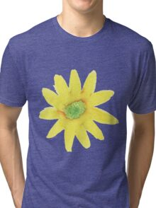 Yellow Daisy water color painting Tri-blend T-Shirt